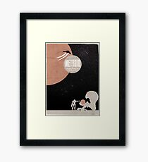 Minimalist Video Games: Metroid Framed Print