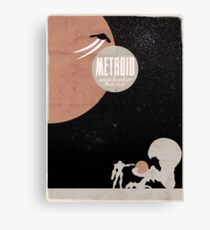 Minimalist Video Games: Metroid Canvas Print