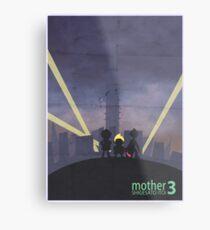 Minimalist Video Game Art: Mother 3  Metal Print