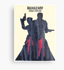 Minimalist Video Games: Resident Evil  Metal Print
