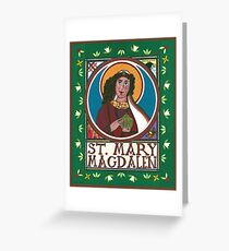 Icon of Mary Magdalen Greeting Card