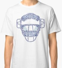 Baseball Catchers Mask Calligram Classic T-Shirt