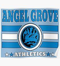 Angel Grove Athletics - Blue Poster