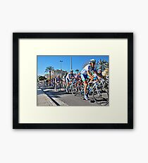 On your bike... Framed Print