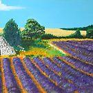 Cassis lavender fields by Heberto   G. Cavazoz