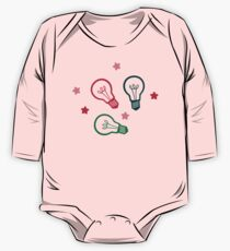 Party Lightbulb Pattern One Piece - Long Sleeve