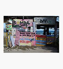 Bomba Shack, BVI Photographic Print