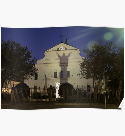 """""""Open Arms"""" - St. Louis Cathedral in New Orleans Poster"""