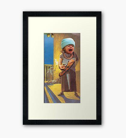 M Blackwell - No-one Wants It... Framed Print