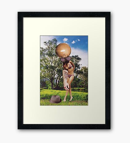 M Blackwell - Oops, I Dropped My Hat... Framed Print