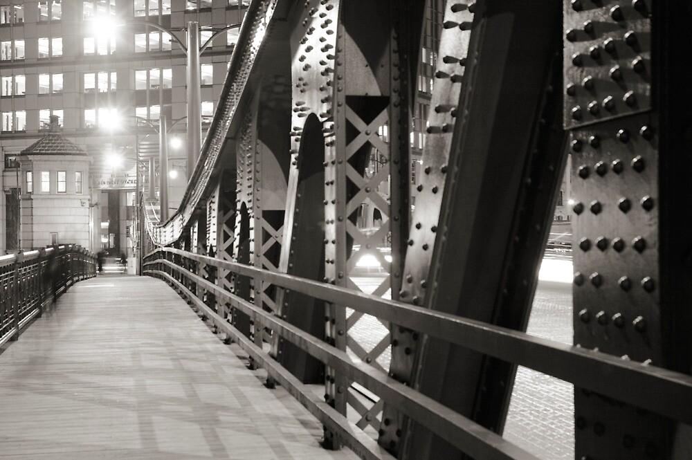 Chicago Bridge in black and white by Patrick  Warneka