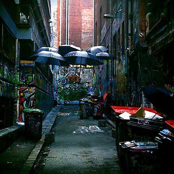 Floaating Brolly - Hosier Lane Melbourne by shotimagery