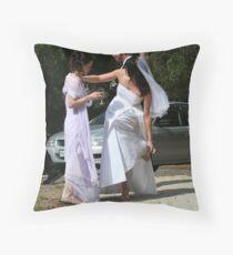 A Rocky Wedding Throw Pillow