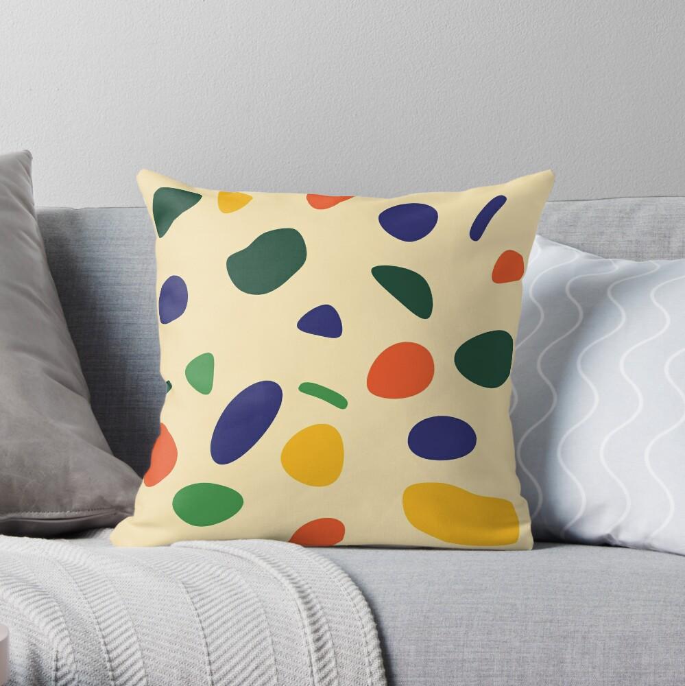 Retro Confetti Party Throw Pillow
