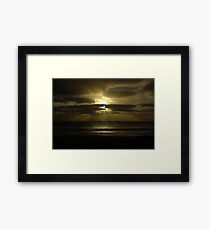 Untitled- Water Rays Framed Print