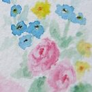 Pastel Floral Watercolor in Shabby Chic by LeisureLane1
