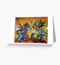 The Jazz Trio Greeting Card