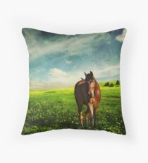 Sunday Afternoon Stroll Throw Pillow
