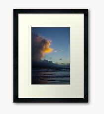 Untitled- Clouds and Sea Framed Print
