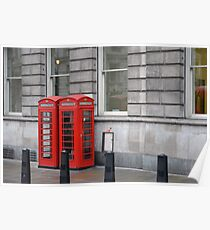 Telephone Boxes Poster