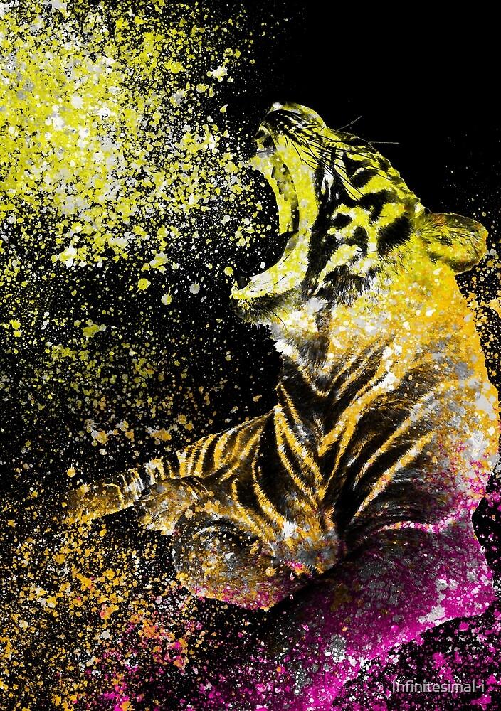 Watercolor Roaring Tiger by Infinitesimal-i