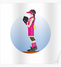 Softball Pinkie Poster