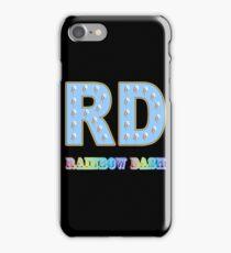 My little Pony - Initials Rainbow Dash - Black iPhone Case/Skin