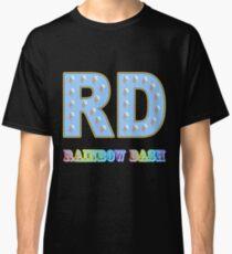 My little Pony - Initials Rainbow Dash - Black Classic T-Shirt