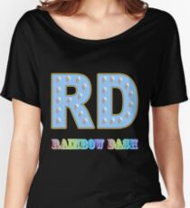 My little Pony - Initials Rainbow Dash - Black Women's Relaxed Fit T-Shirt