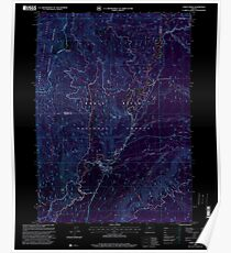 USGS Topo Map Oregon Union Creek 281934 1997 24000 Inverted Poster