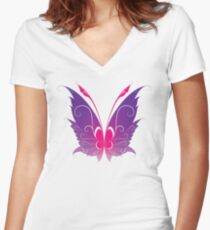 Pixie wings Women's Fitted V-Neck T-Shirt