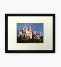 Sunset at the Abbey Framed Print