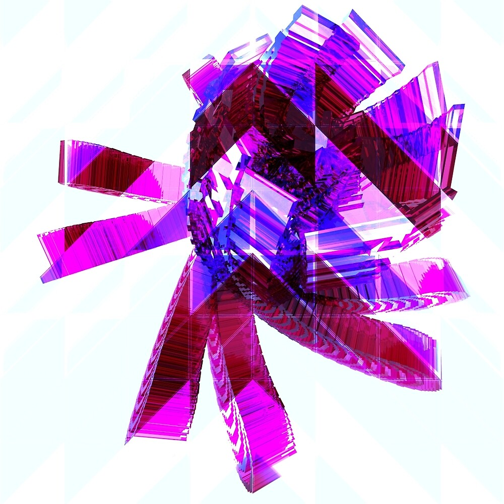 Rosa - Glass Flower Abstract by gr8effect