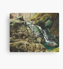 Independence Trail stream, Nevada City CA - watercolour Canvas Print