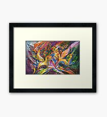 A storm of passion Framed Print