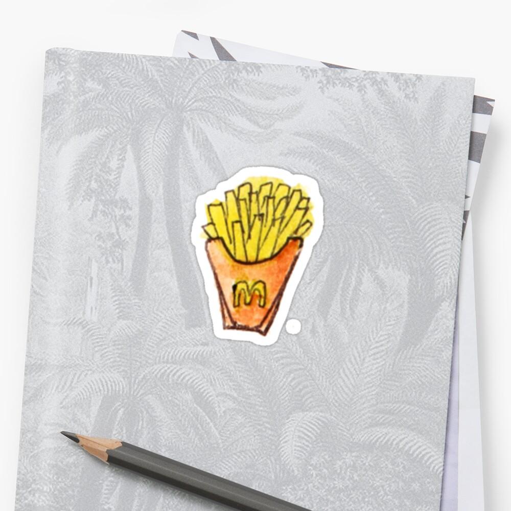 Indie fries sticker! by Giulia Brasolin