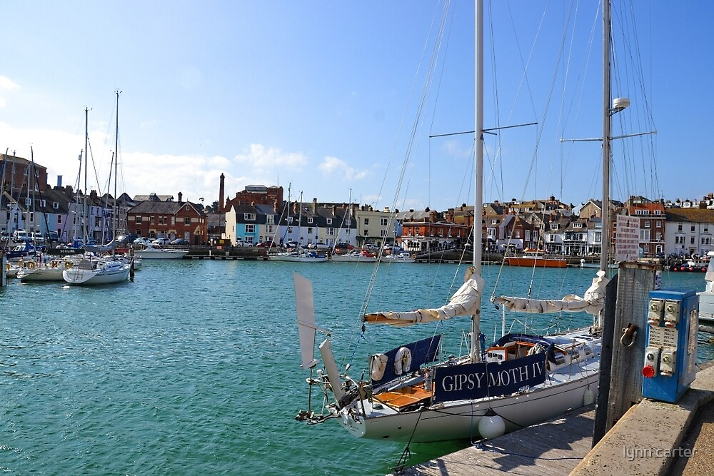 Weymouth Colourful Harbour, Dorset UK by lynn carter