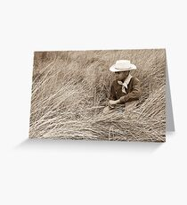 Young Cowboy in the Dunes Greeting Card
