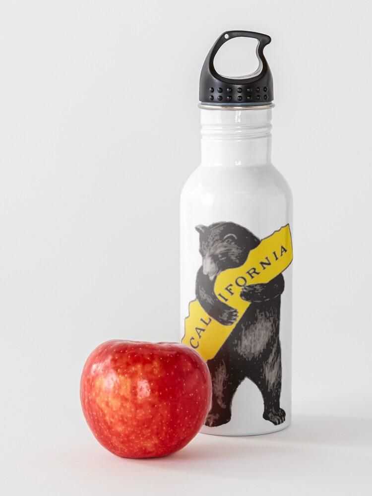 Alternate view of Vintage California Bear Hug Illustration Water Bottle