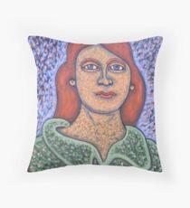 cartoon painting Throw Pillow