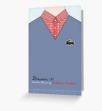 'The Dressers #1' Greeting Card