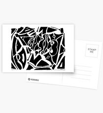 019 - ABSTRACT DESIGN - DAVE EDWARDS - FELT-TIP PEN - 1967 Postcards