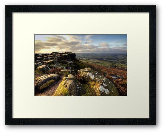 Baslow Edge Derbyshire by Roy Childs