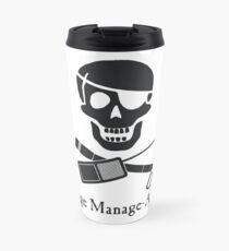 Stage Manage-Arrr! Black Design Travel Mug