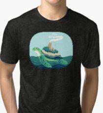 Gentle sea monster (Pixel) Tri-blend T-Shirt