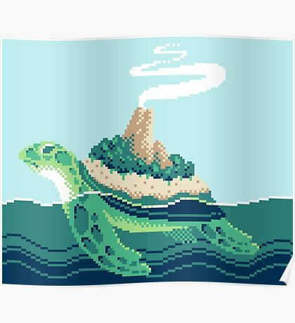 Gentle sea monster (Pixel) Poster