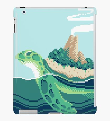 Gentle sea monster (Pixel) iPad Case/Skin