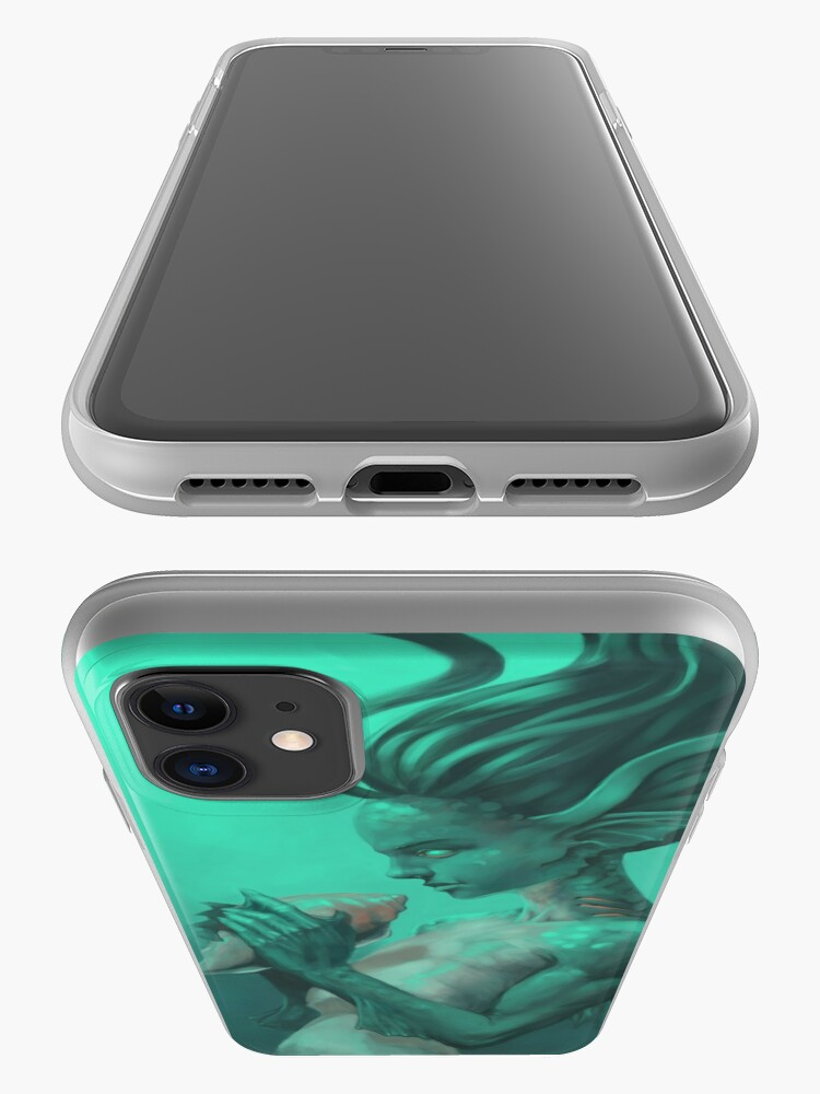 Alternate view of Mermaid with Shell | Digital Illustration iPhone Case & Cover