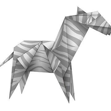 Horse folding paper by Halfpen
