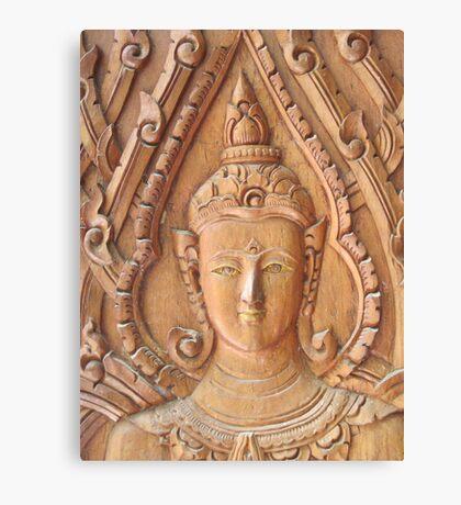 Thai Buddhist Wood Carving Canvas Print
